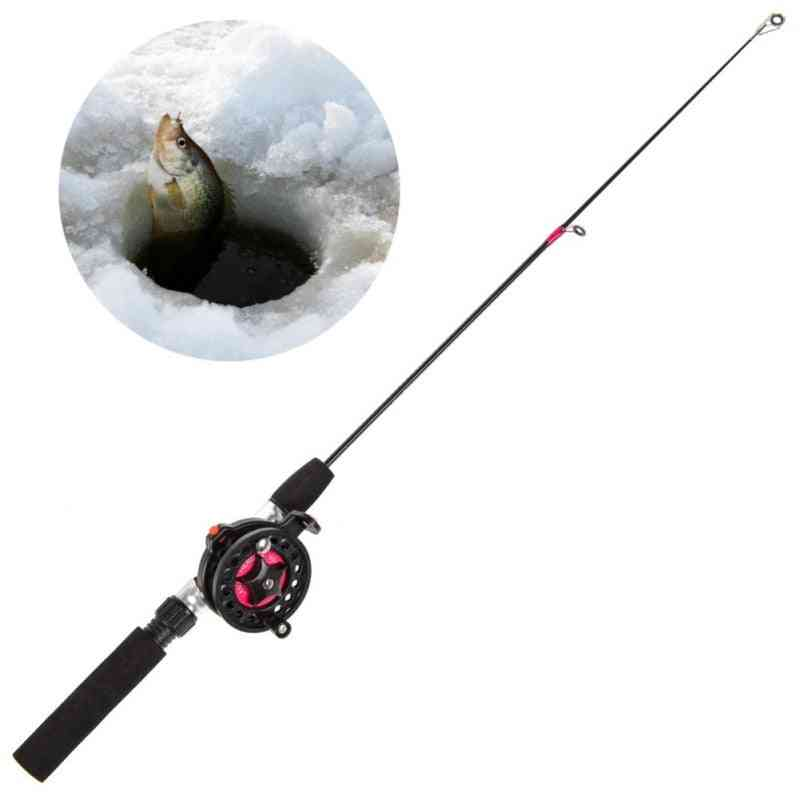 Winter Ice Fishing Rods Combo Pen Pole Lures Hard
