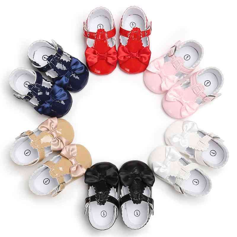 Cute Lovely Girl Shoes, Baby Bowknot Soft Sole Sneakers