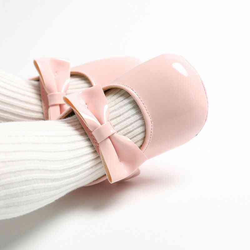 Newborn Cute Baby Girl Soft Soled Pu Leather Shoes