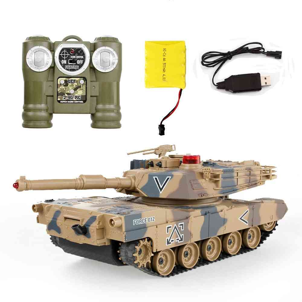Remote Control Tank Against Rc Parent-children Infrared With Turret Model Battle Toy Car
