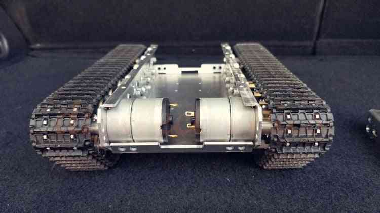 Wifi Rc Tank Chassis Robot Stainless Steel Truck Intelligent Metal Crawler With Shock