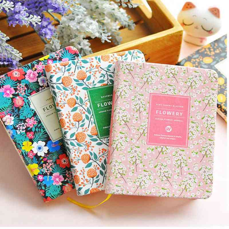 Floral Flower Schedule Book Diary, Weekly Planner Notebook For School & Office Stationery