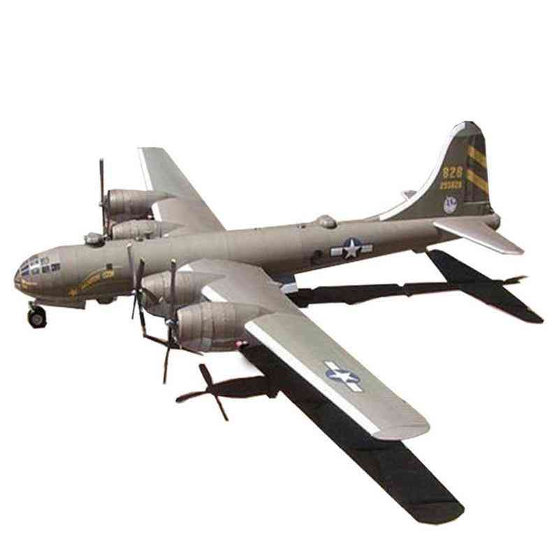 B-29 Super Fortress Handmade Paper Toy Airplane