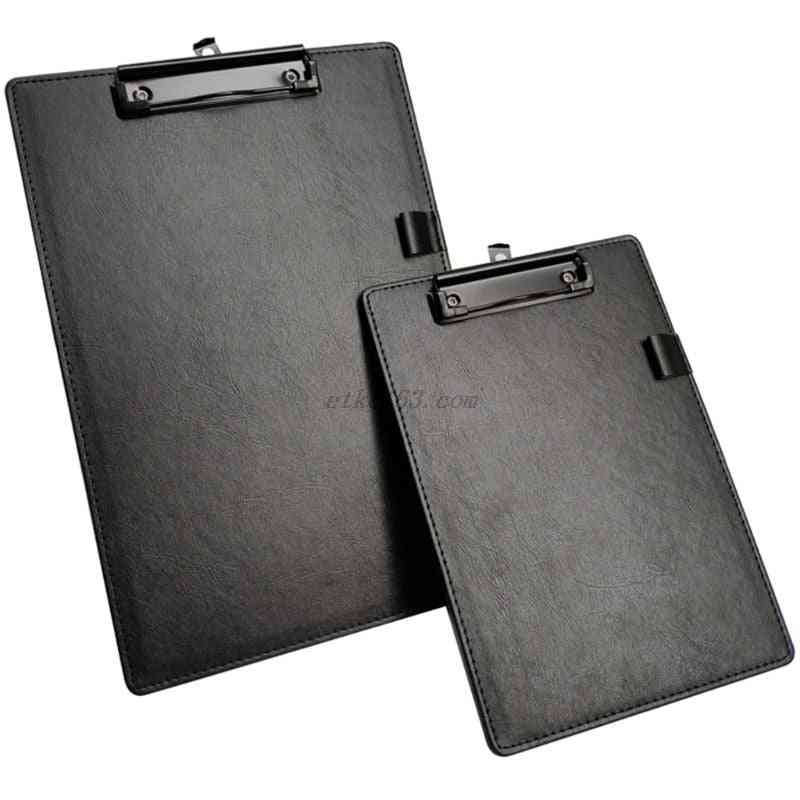 A4/a5 File Paper Clip Board, Writting Pad Folder Document Holder With Pen