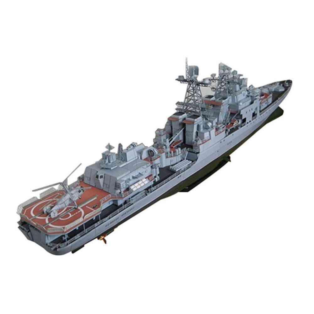 Antisubmarine Ship, 3d Paper Card Model - Building Set Construction