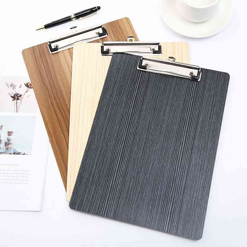 A4 Paper Holder Wooden Clipboard For School/office