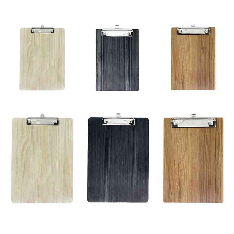 A4/a5 Portable, Hard Wooden Writing Clipboard For Office/school