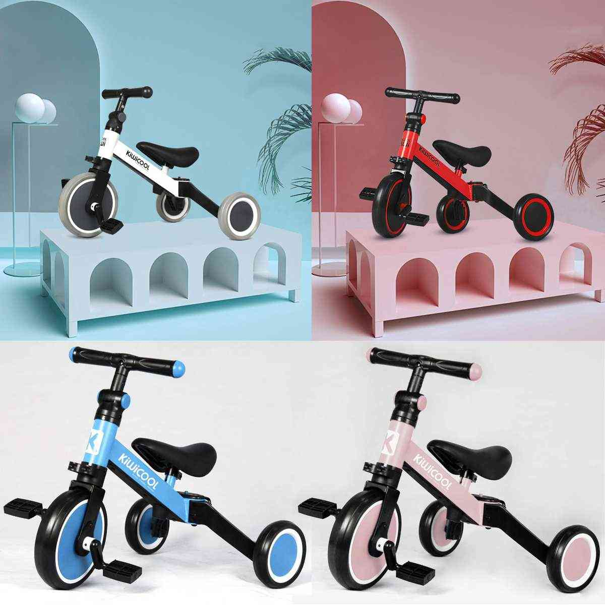 Deformable Scooter Tricycle, 3 In 1 Design, Balance Bicycle Ride On Bike For Baby