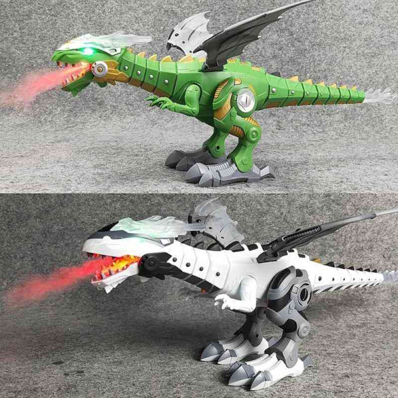 Electric Walking Dinosaur Robot With Light, Sound And Mist Spray