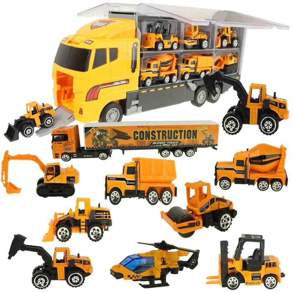 Big Truck & Mini Alloy Diecast Car Model 1:64 Scale