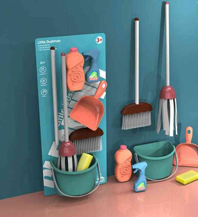 Simulation Play House Toy- Boy And Girl Training Cleaning Tool Set