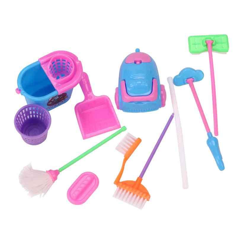 Dollhouse Cleaning Miniature Brush-  Mop/broom/vacuum Cleaner