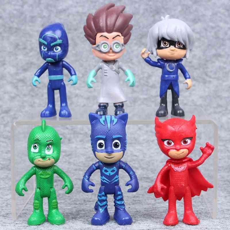 Pj Masks Cartoon Flexible Limbs Anime Character Carton Action Figures