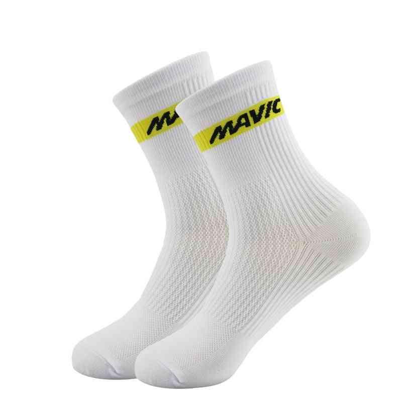 Professional Cycling Socks- High Cool Tall Mountain Bike Socks, Outdoor Sport Compression Socks