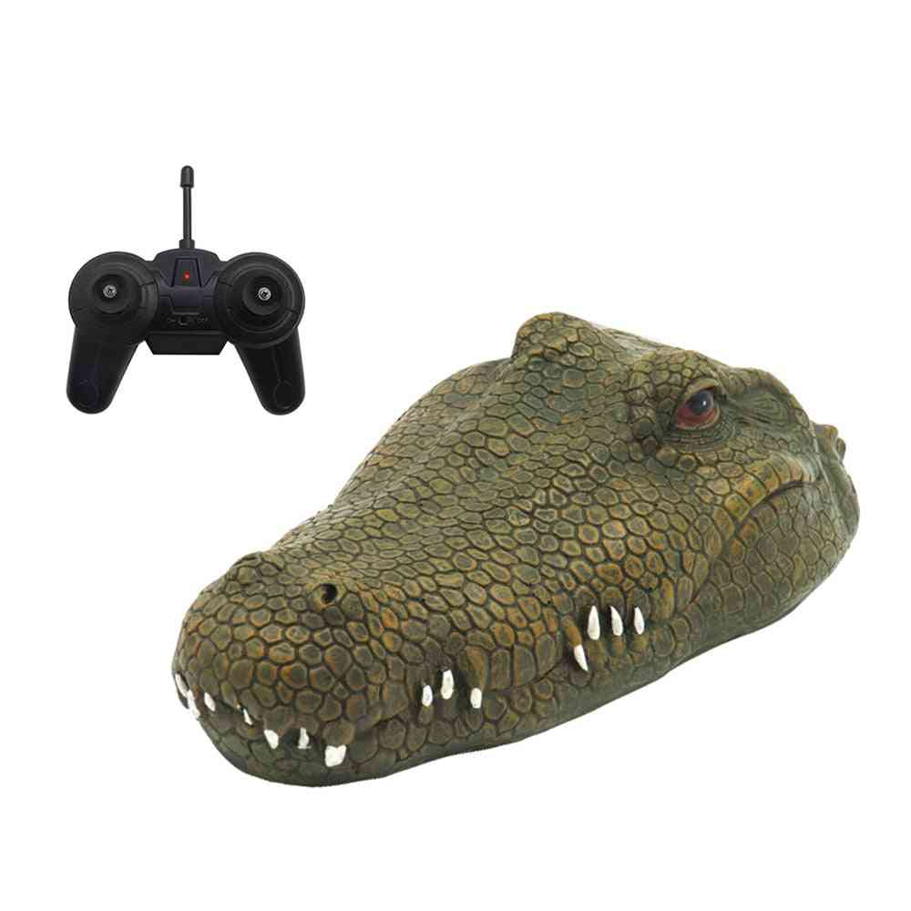 Rc Boat 2.4g, Simulation Crocodile Head - Rc Remote Control Electric Racing Toy For Adult Pools