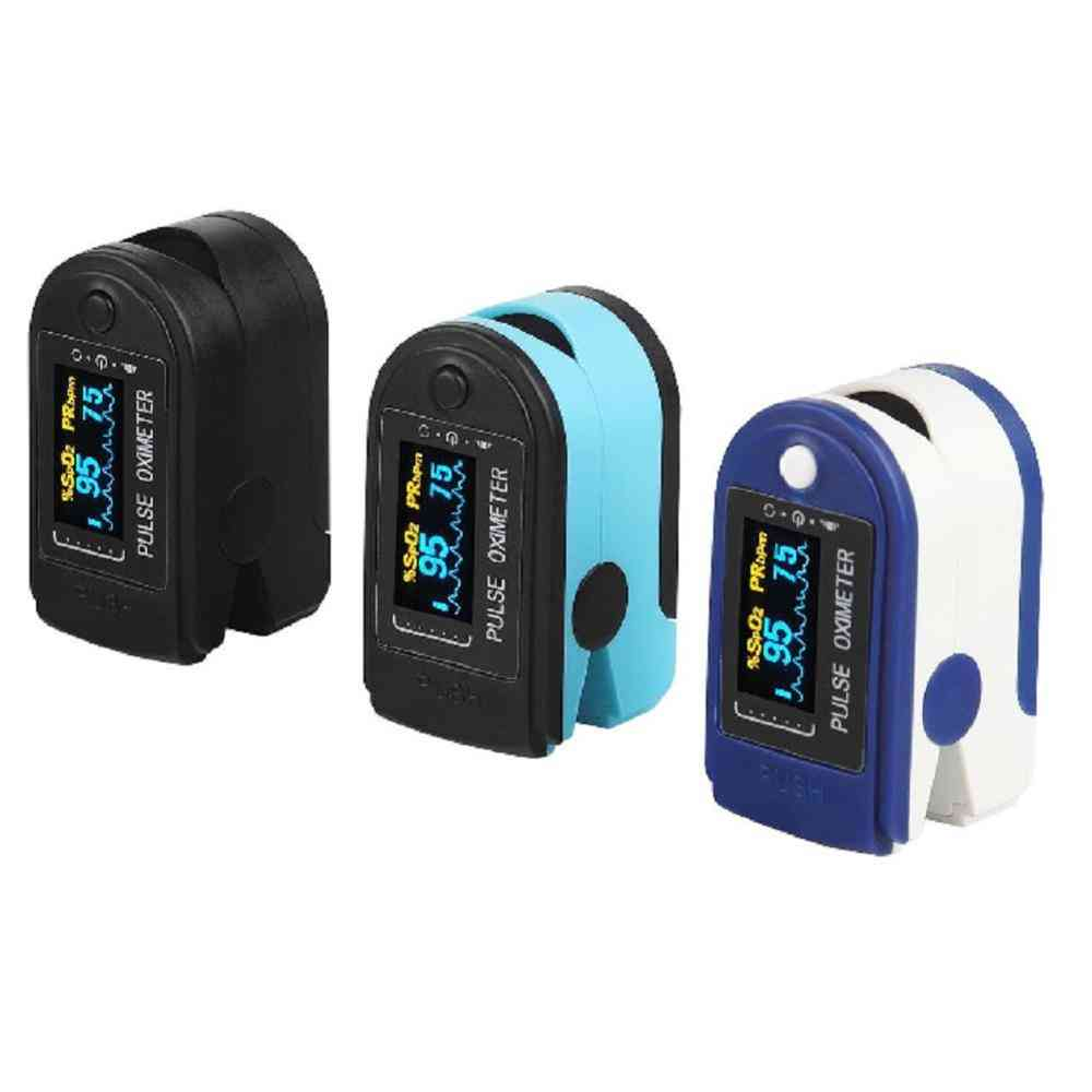 Finger Pulse Oxygen Saturation Monitor Blood Oximeter- Blood Pressure Meter Health Monitors Oximetro, Home Family Pulse Oxymeter
