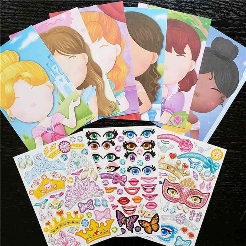 Sticker-activity Pad With Blank Faces To Fill With Features-puzzle Game