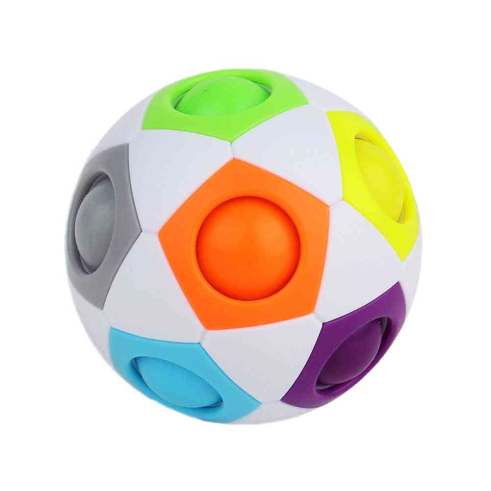 Rainbow Jigsaw Ball-learning Toy For Kid's Logical Thinking