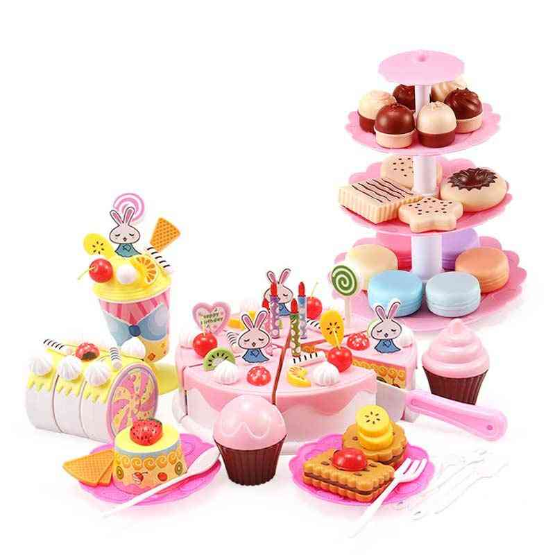 Miniature Food And Stand Set- Kitchen Pretend Play Plastic For