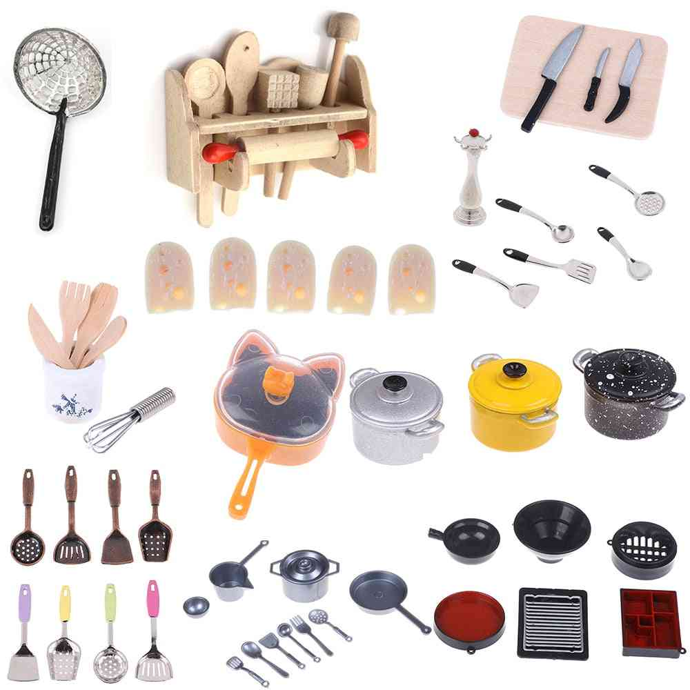 Dollhouse Kitchen Cooking Ware-pretend Play