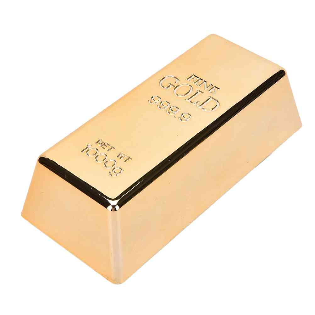 Rose Gold Bar Bullion For Door Stop, Paperweight Simulation