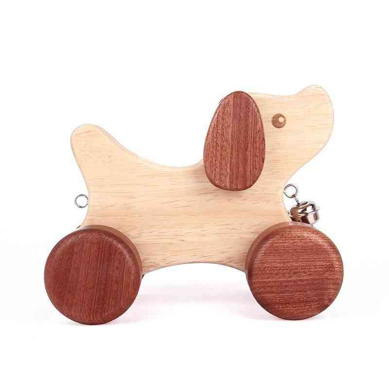 Wooden Dog Family Rocking Toy For