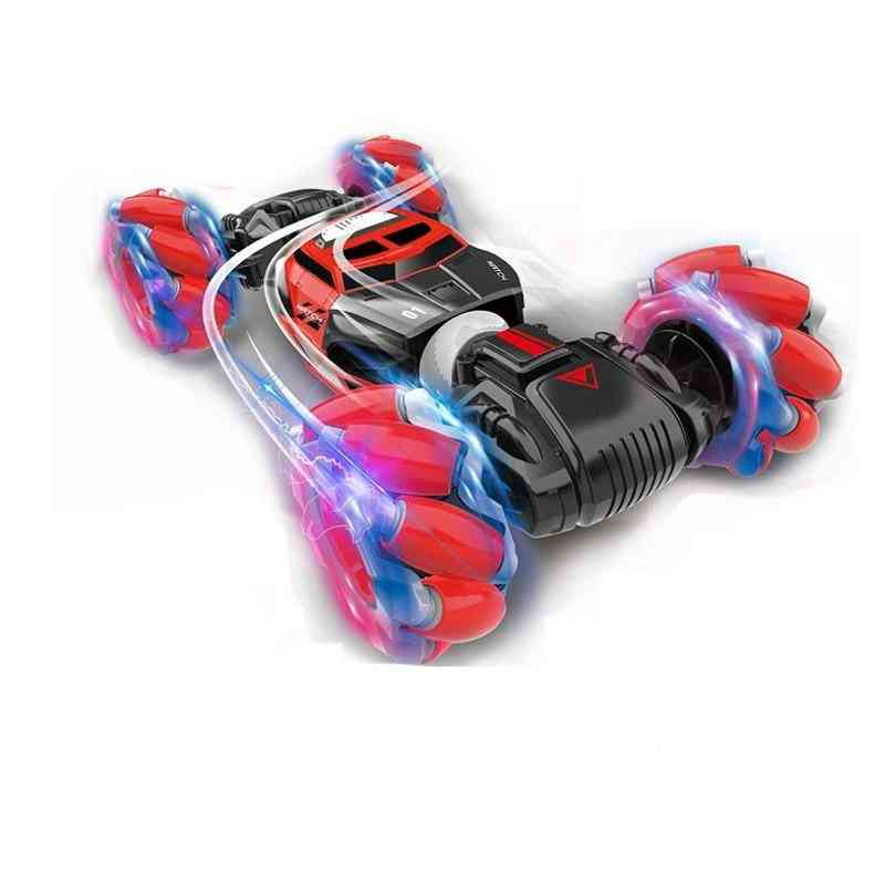 4wd Remote Control Stunt Car, Gesture Sensor Control, Deformable For Kid With Led Light