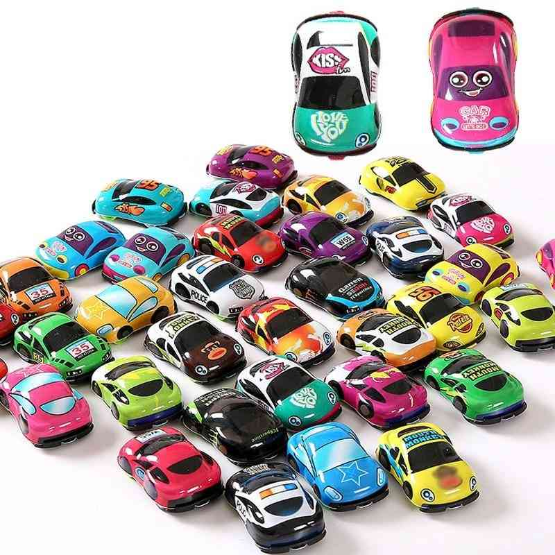 Cartoon Cute Plastic Pull Back Toy Cars