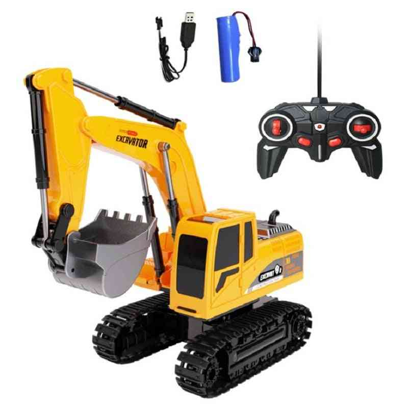 Remote Control Excavator With 6 Channel And Large Dig Bucket
