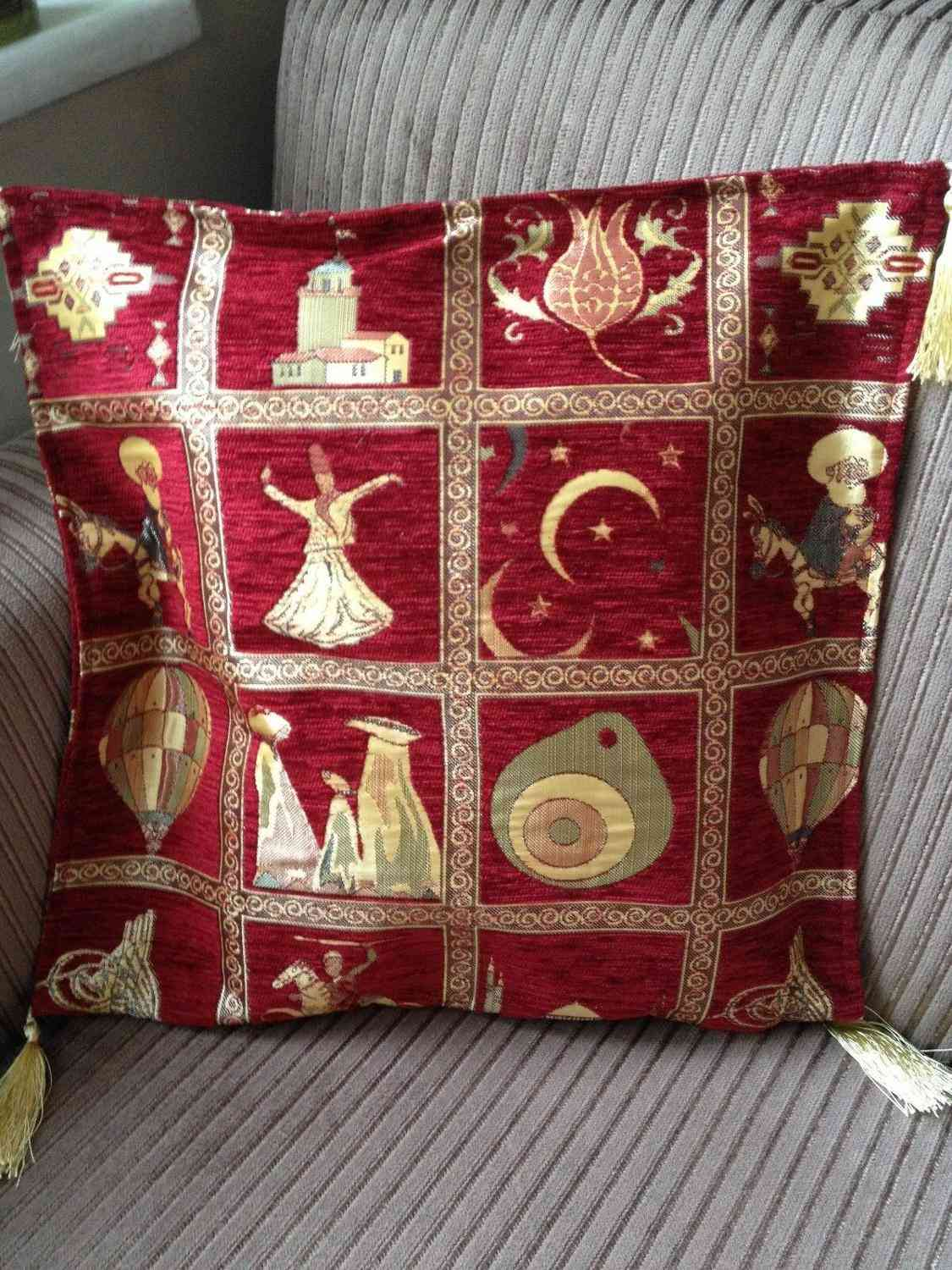 High Quality Ottoman Style Chenille Pillow Cover