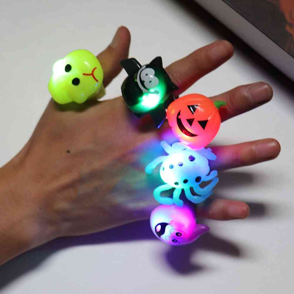 Cartoon Luminous Finger Rings, Glow In The Dark For