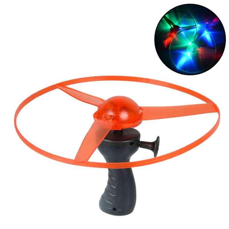 Funny Spinning Flyer, Luminous Flying Ufo Led Light Handle Flash