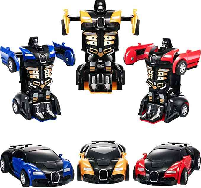 Transformer Mini 2 In 1 Car Robot, Anime Action Collision Transforming Model Deformation Vehicles Toy For