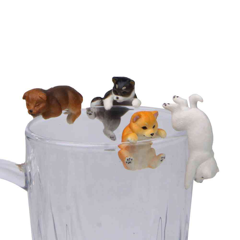 Mini Dog Shape Hanging On Mug Ornament