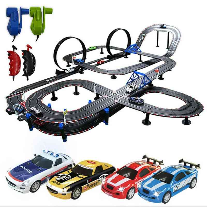 Electric Remote Control Railway Track Set For
