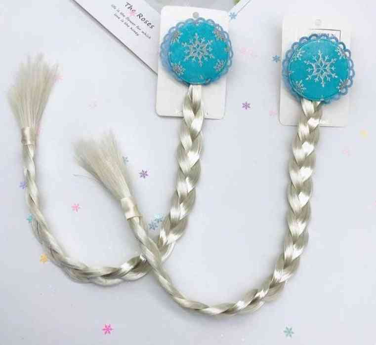 Frozen 2 Wig Braids Clip-cosplay Dress Up Accessory For Kids