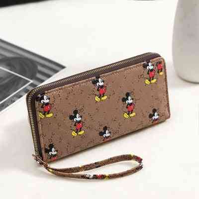 Mickey Mouse Print, Pu Leather, Coin And Card Holder Wallet