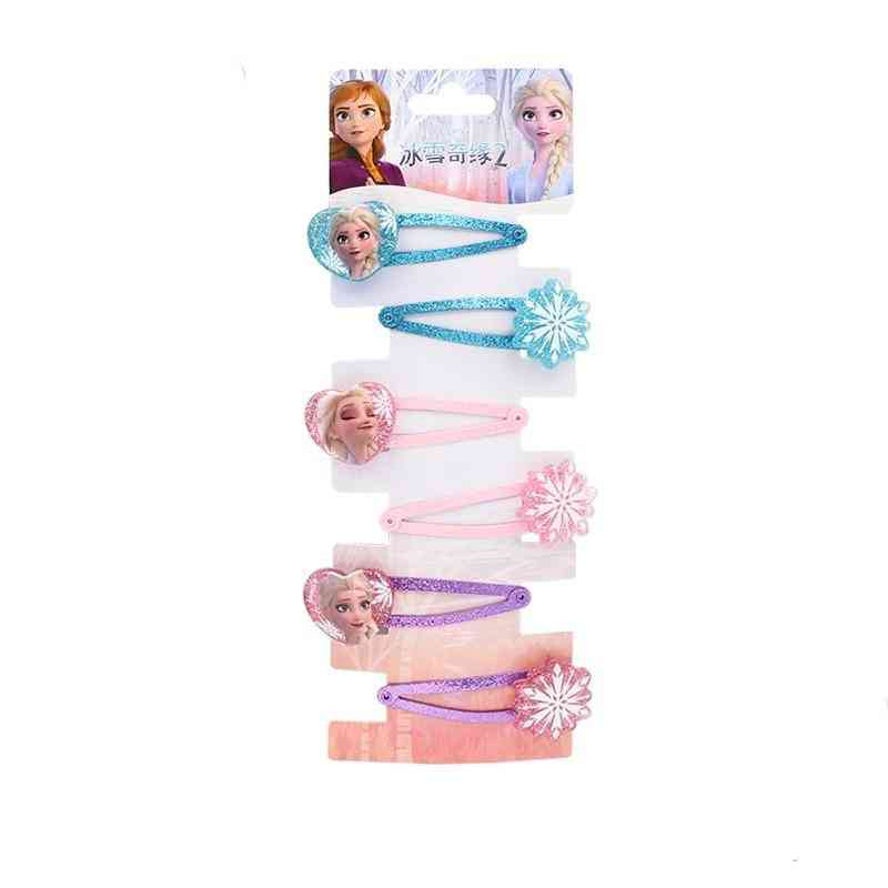 Disney Frozen-elsa Hair Clip And And Ponytail Rubber Bands