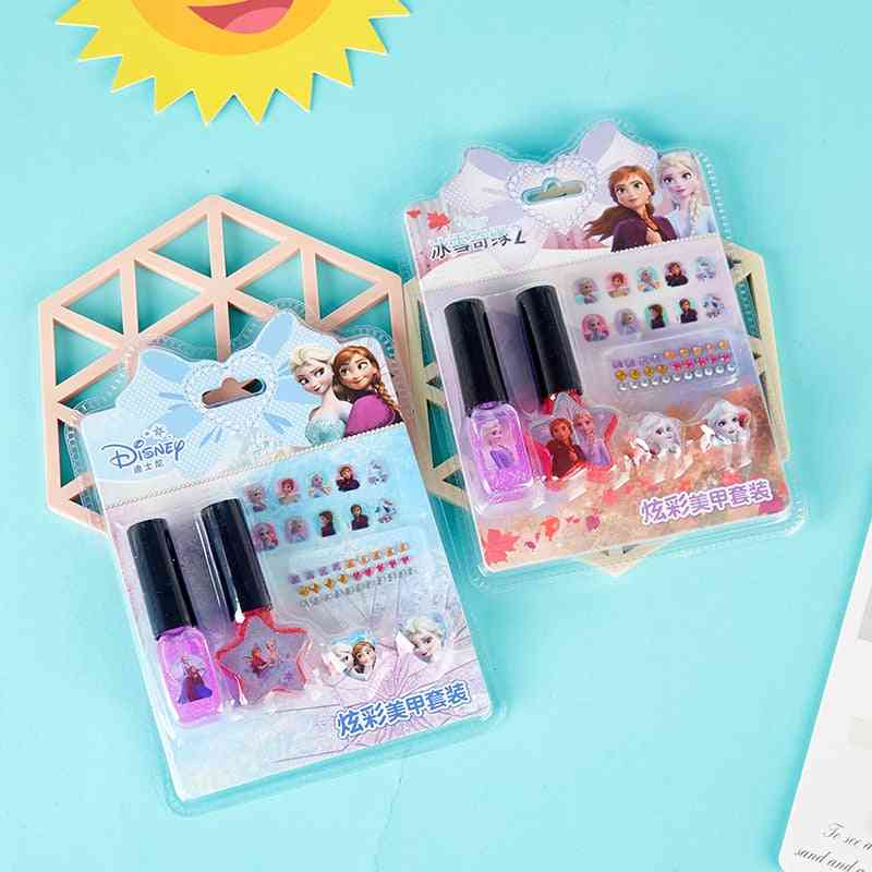 Set Of Nail/drilling Stickers, Washable Polish And Ring-pretend Play
