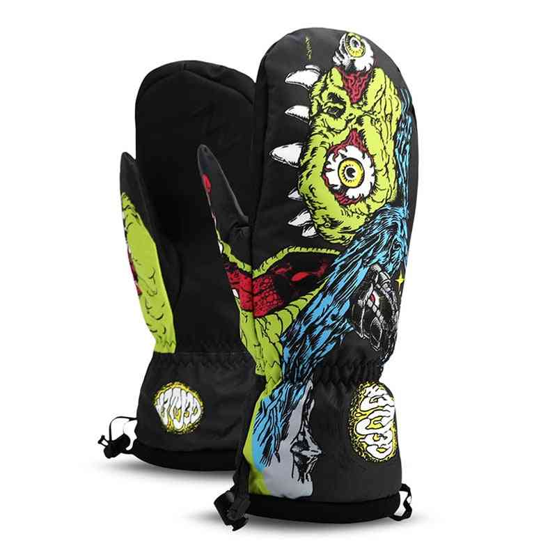 Professional Snowboarding Ski Gloves- Waterproof And Warm 2 Finger Mittens