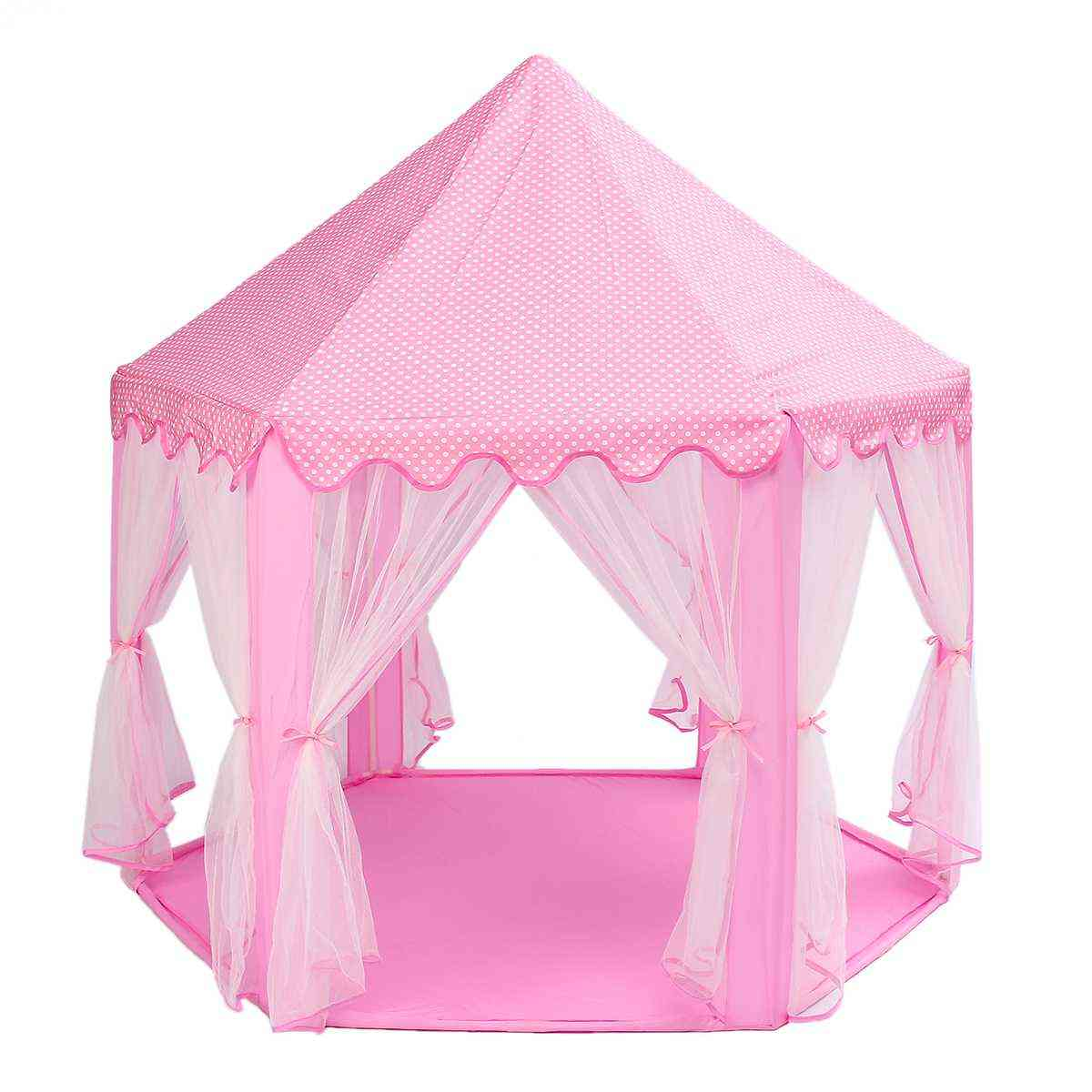 Portable Princess Castle- Play Tent With Rods
