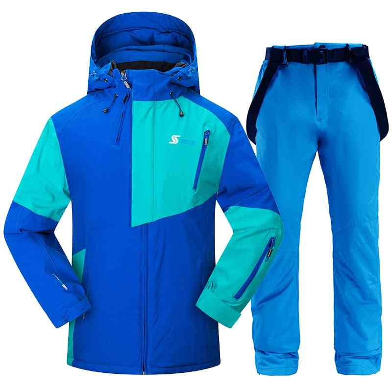 Windproof And Waterproof Snowboarding Jackets And Pants Set
