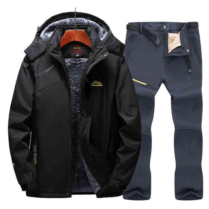 Ski Suit- Snow Skiing And Snowboarding Sets, Warm Waterproof Windproof Snowboard Fleece Jacket / Pants Men's Winter Suit