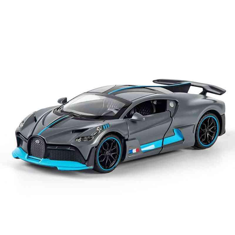 Super Sports Car Model Toy, Die Cast Pull Back Sound Light Vehicle For
