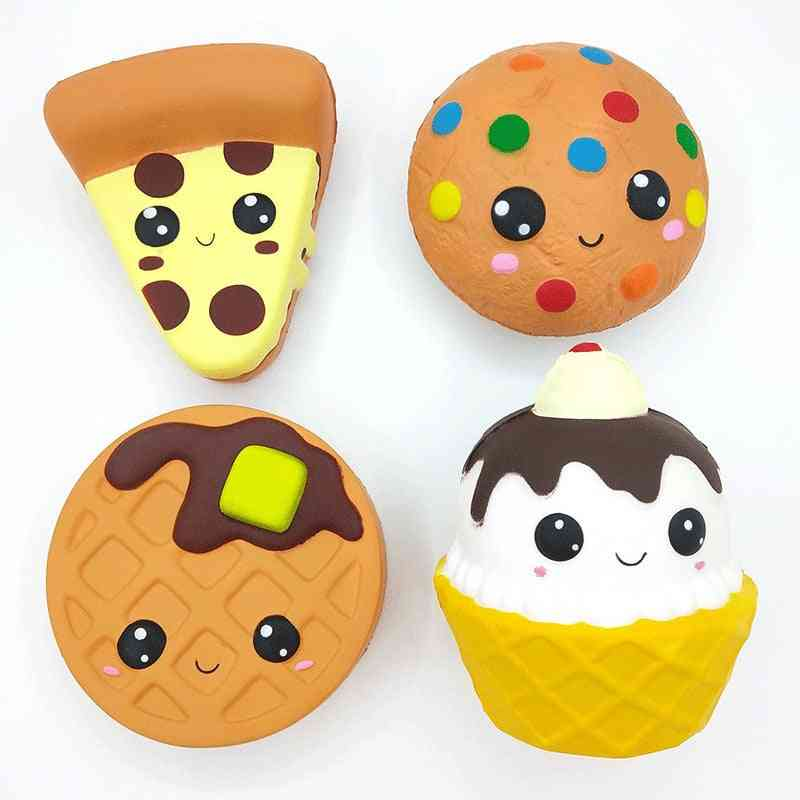 Cartoon Cheese, Chocolate, Biscuits, Cake Cute Squishy Food, Slow Rising Cream Scented Toy