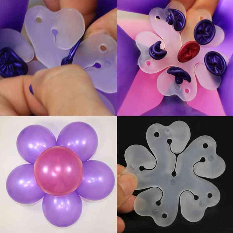 Plum Blossom Shape Ballon Clip - Safety