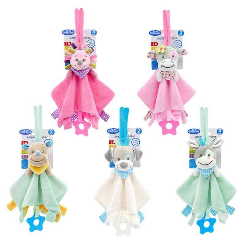 Soft Plush Animal Doll Toy Teethers, Towel Grasping Rattles, Playmate Calm For Infant, Baby