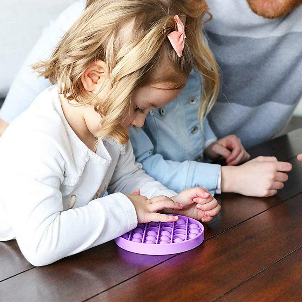 Novelty Push Bubble Fidget Silica Gel Autism Special Needs Sensory Stress Relief Toy