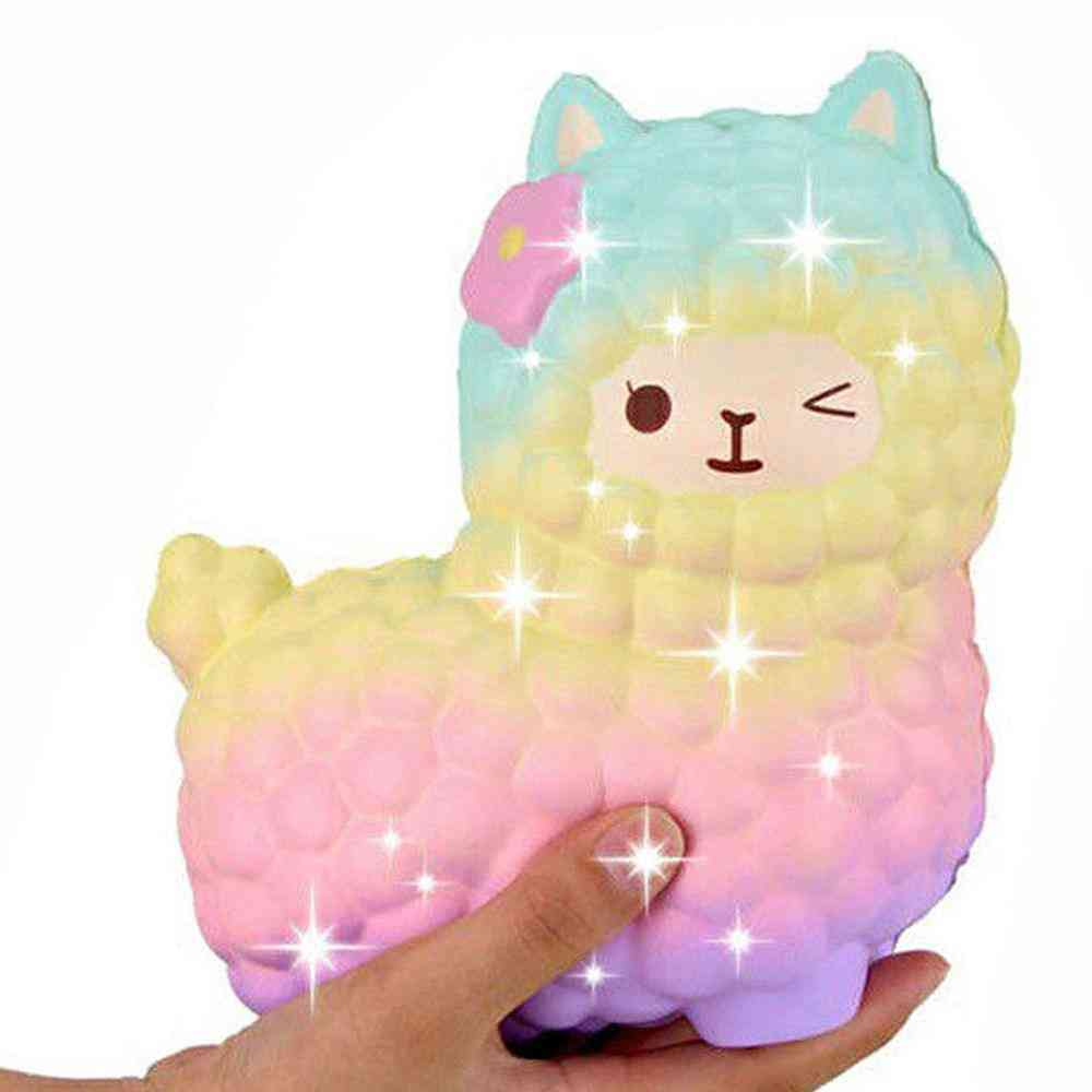 Jumbo Sheep Alpaca Squishy Cute Galaxy Slow Rising Squeeze Stress Relief Exquisite Kids Toy