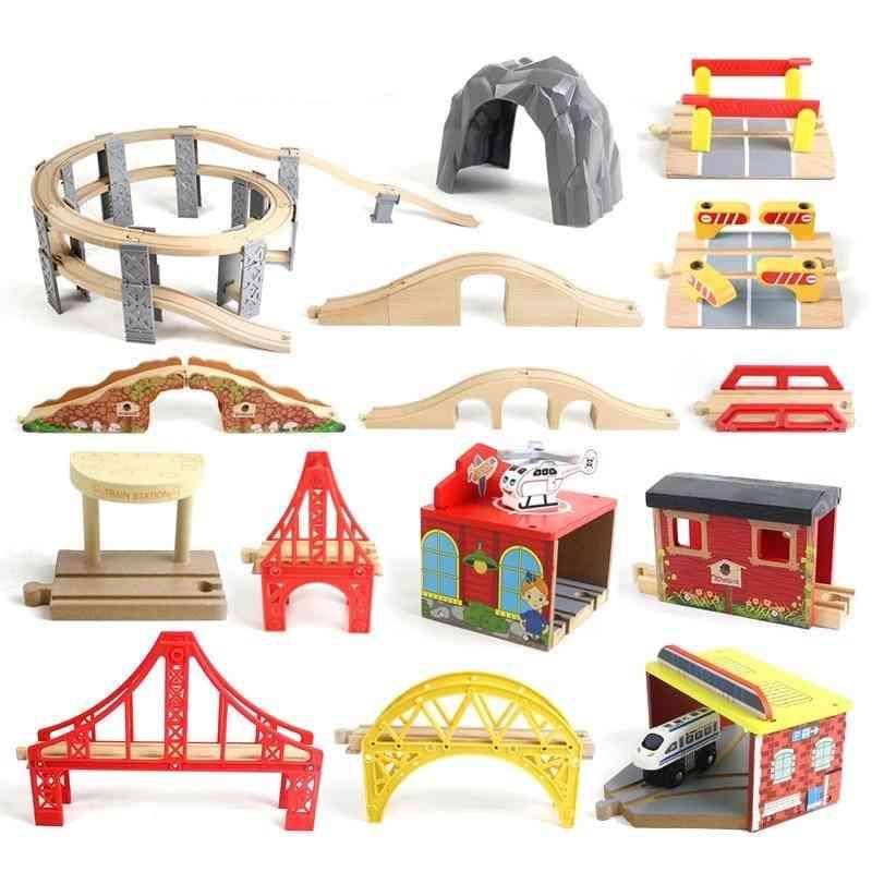 Wooden Track Railway Bridge Accessories Educational